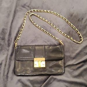 Black & gold Tory Burch crossbody purse
